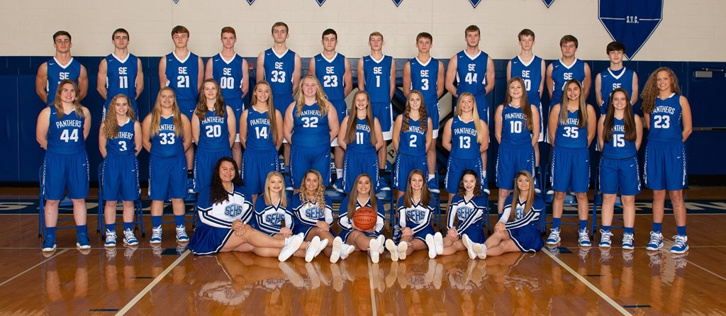 Girls and boys Varsity Basketball teams
